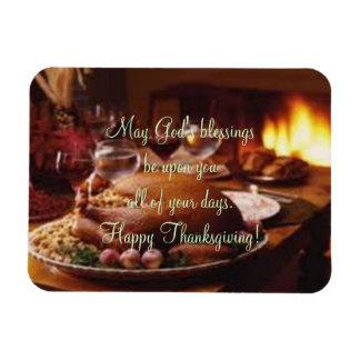 Thanksgiving Day Dinner Rectangular Photo Magnet