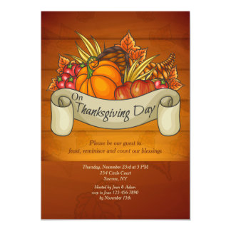 Thanksgiving Day Harvest Invitation