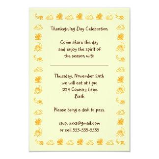 "thanksgiving day invitation 3.5"" x 5"" invitation card"