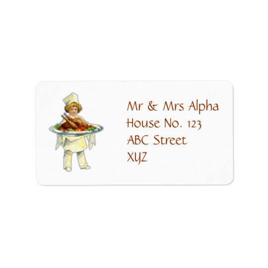 Thanksgiving Day Label Address Label