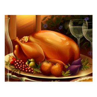 Thanksgiving Day Platter Postcard