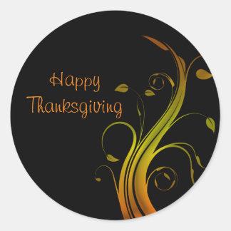 Thanksgiving day round sticker