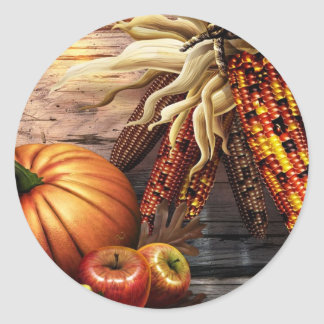 Thanksgiving Day Round Sticker