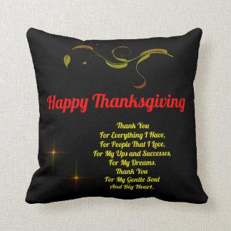 Thanksgiving day throw cushion