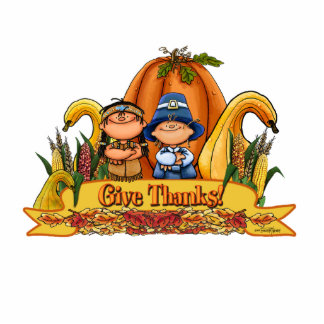 Thanksgiving Decor - Give Thanks Standing Photo Sculpture