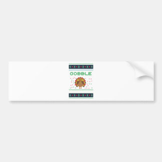 Thanksgiving design bumper sticker