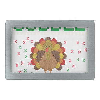 Thanksgiving design rectangular belt buckle
