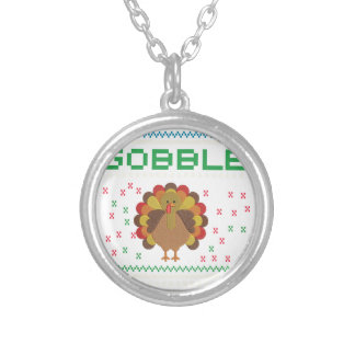 Thanksgiving design silver plated necklace