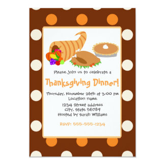 Thanksgiving Dinner 13 Cm X 18 Cm Invitation Card