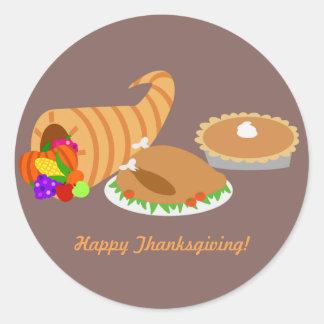 Thanksgiving Dinner Classic Round Sticker