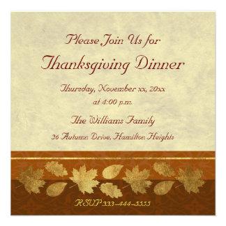 Thanksgiving Dinner Custom Invites