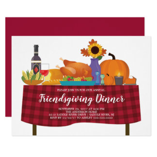 Thanksgiving Dinner friendsgiving Invitation