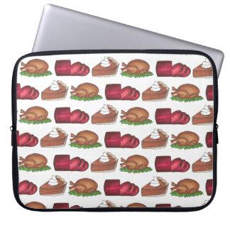 Thanksgiving Dinner Holiday Cranberry Turkey Pie Laptop Sleeve