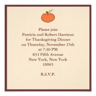 Thanksgiving Dinner 5.25x5.25 Square Paper Invitation Card