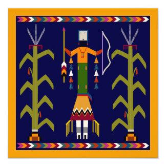 Thanksgiving dinner Invitation Folkart Maze Indian