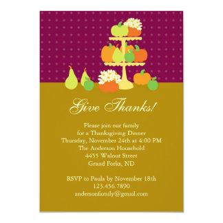 Thanksgiving Dinner Invitation with Pumpkins