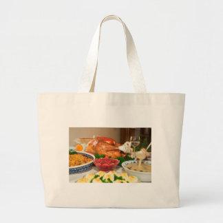 thanksgiving dinner jumbo tote bag