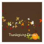 Thanksgiving Dinner, maple leaves Invite