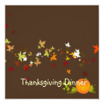 Thanksgiving Dinner, maple leaves Invite