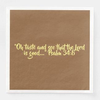 "Thanksgiving Dinner Napkin ""Taste and See"" Disposable Serviette"