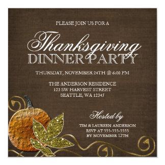 Thanksgiving Dinner Party Invitations