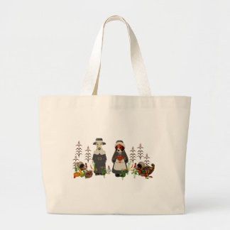 Thanksgiving Dogs Tote Bags