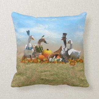 Thanksgiving Ducks Cushion