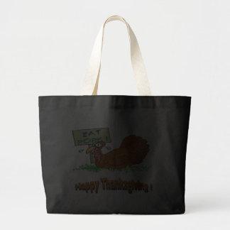 Thanksgiving Eat Pork Canvas Bags