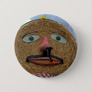 thanksgiving face 6 cm round badge