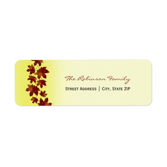 Thanksgiving / Fall Address Labels - Leaves