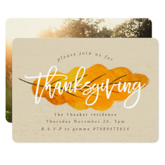 THANKSGIVING FALL LEAF INVITATION