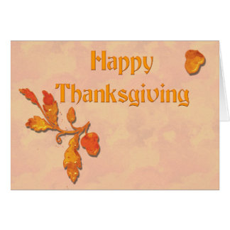 Thanksgiving Fall Leaves Card