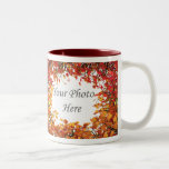 Thanksgiving Fall Tree Circle 2-Photo Frame Two-Tone Mug