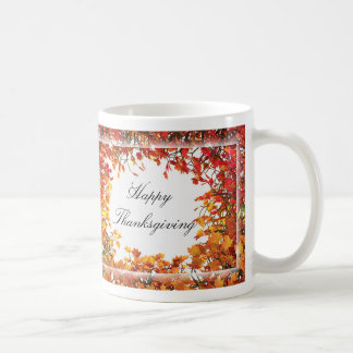 Thanksgiving Fall Tree Circle Mugs