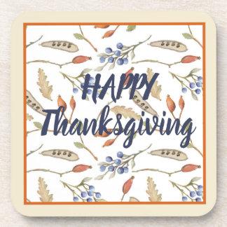Thanksgiving Fall Woodland Design Coaster