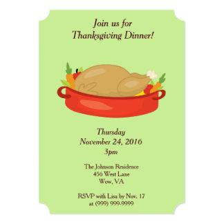 Thanksgiving Family Dinner Card