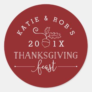 Thanksgiving Feast Classic Round Sticker