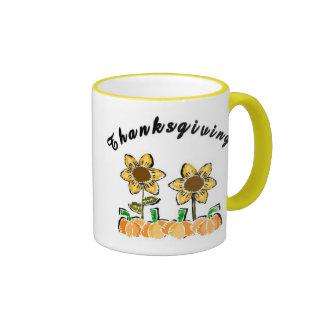 Thanksgiving Flowers Mugs