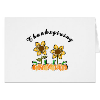 Thanksgiving Flowers Note Card