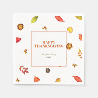 Thanksgiving Friendsgiving Paper Napkins
