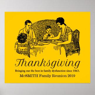 Thanksgiving Funny Family Dinner Poster