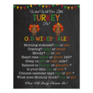 Thanksgiving Gender Reveal Old Wives' Tales Poster