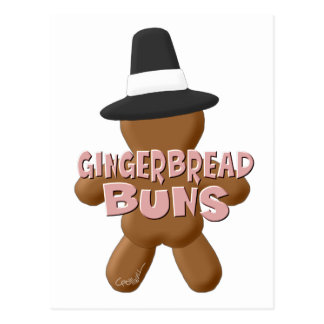 Thanksgiving Gingerbread Buns Postcard