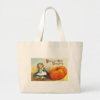 Thanksgiving Girl Tote Bags