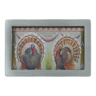 Thanksgiving Greetings 1906 Belt Buckles
