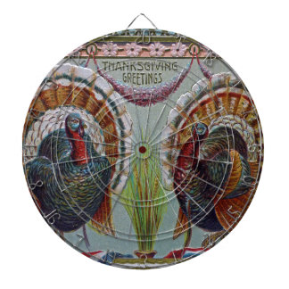Thanksgiving Greetings 1906 Dartboard