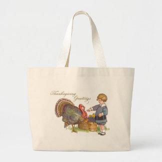 Thanksgiving Greetings Jumbo Tote Bag