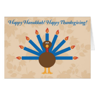 Thanksgiving Hanukkah (Thanksgivukkah) Card 3