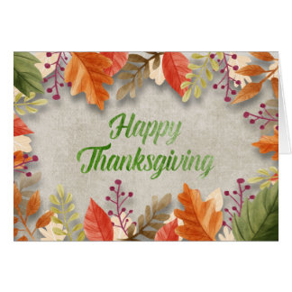 """Thanksgiving - """"Happy Thanksgiving"""" Watercolors Card"""
