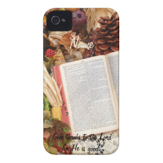 Thanksgiving Harvest and Bible Case-Mate iPhone 4 Case